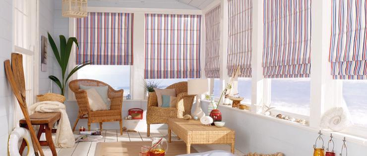 Roman Sittingroom Blinds