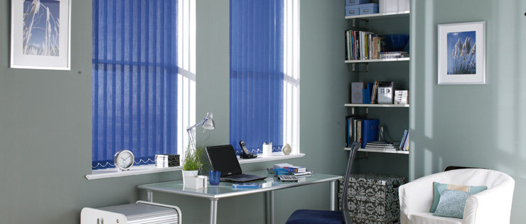 Fabric Vertical Blinds Lounge