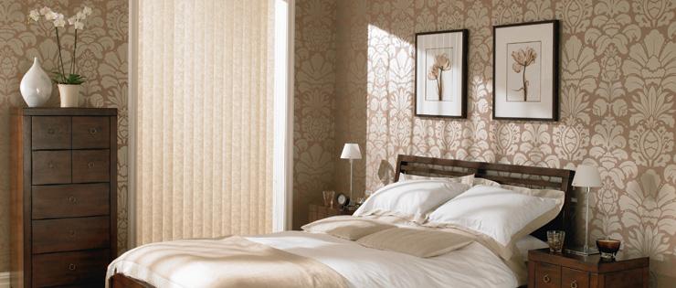 Fabric Vertical Blinds Bedroom