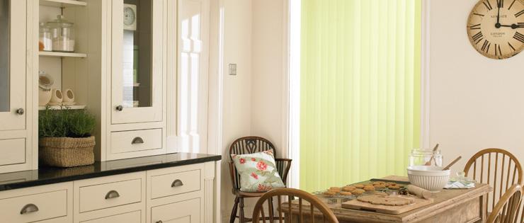 Fabric Vertical Blinds Diningroom